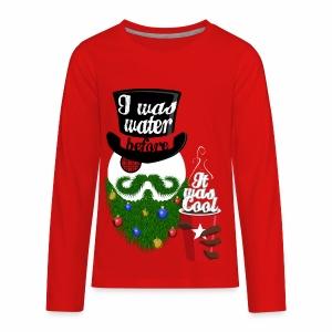 Hipster Snowman - Kids' Premium Long Sleeve T-Shirt