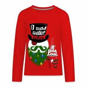 Hipster Snowman - Kids' Premium Long Sleeve T-Shirt