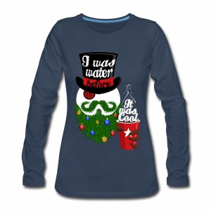 Hipster Snowman - Women's Premium Long Sleeve T-Shirt