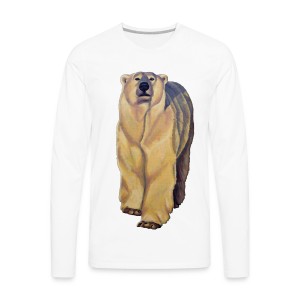Polar Bear Art Shirts - Men's Long Sleeve - Men's Premium Long Sleeve T-Shirt