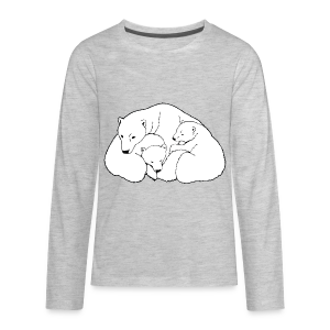 Polar Bear Art Shirts - Kid's Long Sleeve - Kids' Premium Long Sleeve T-Shirt