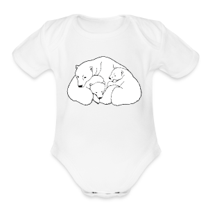 Polar Bear Art Baby Bodysuit - Short Sleeve Baby Bodysuit