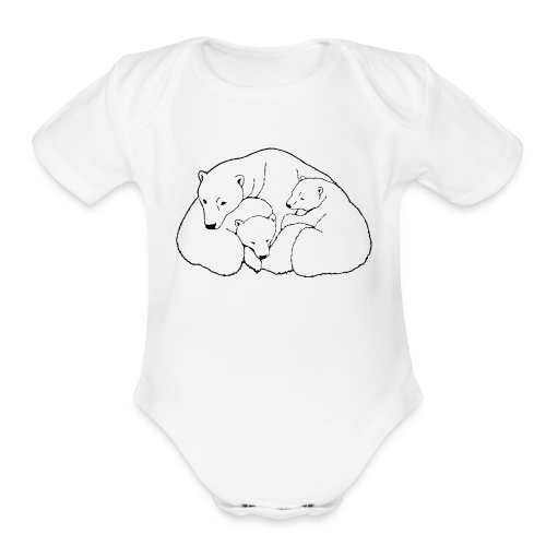 Polar Bear Art Baby Bodysuit - Organic Short Sleeve Baby Bodysuit