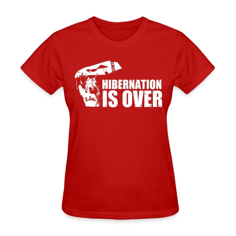Hibernation is Over Rally Squirrel 12 in 12 Shirt - Women's T-Shirt