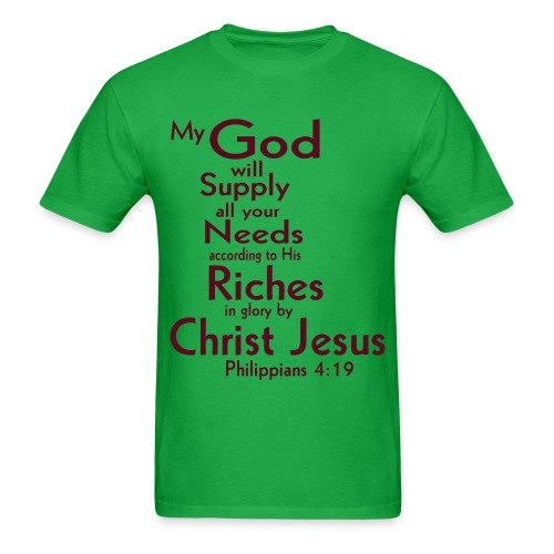 Philippians 4:19  - Men's T-Shirt