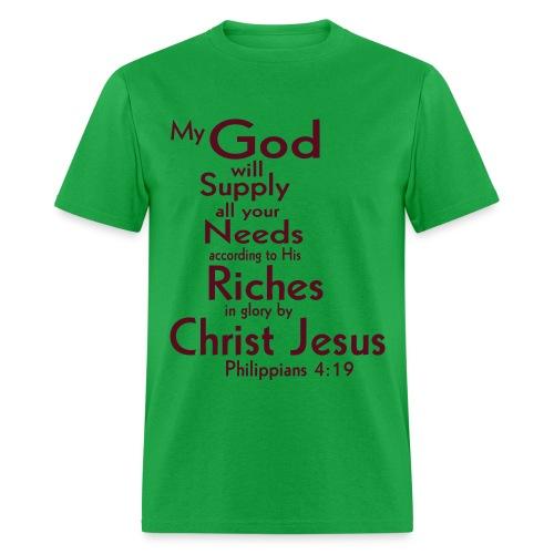 Philippians 4:19  - Men's T-Shirt
