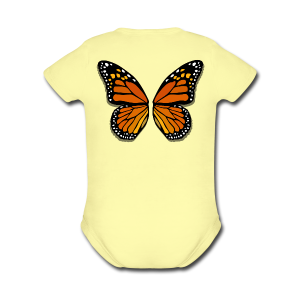 Butterfly Wings Bodysuit Baby Halloween Costume - Short Sleeve Baby Bodysuit