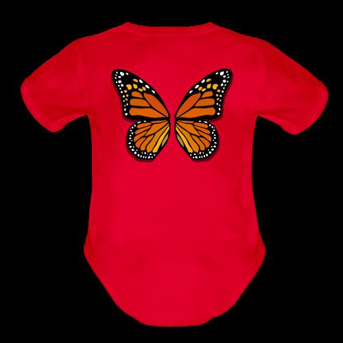 Butterfly Wings Bodysuit Baby Halloween Costume - Organic Short Sleeve Baby Bodysuit
