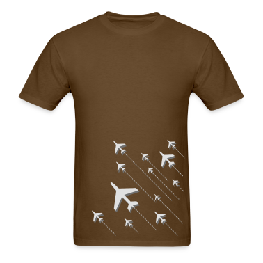 grey airplane take off T-Shirts