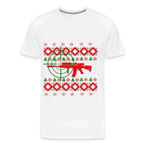 Ugly Christmas gun  - Men's Premium T-Shirt