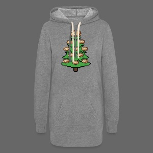 Coney Ugly Christmas Sweater Style - Women's Hoodie Dress