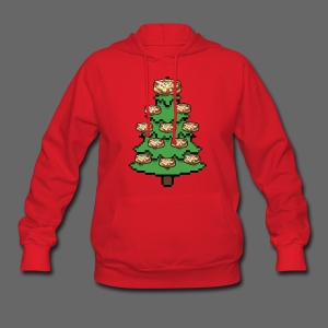 Coney Ugly Christmas Sweater Style - Women's Hoodie