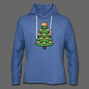 Coney Ugly Christmas Sweater Style - Unisex Lightweight Terry Hoodie