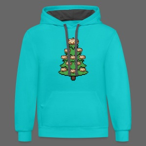 Coney Ugly Christmas Sweater Style - Contrast Hoodie