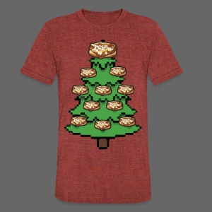 Coney Ugly Christmas Sweater Style - Unisex Tri-Blend T-Shirt by American Apparel
