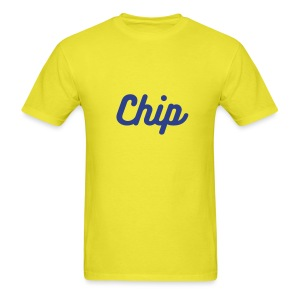 Chip on Yellow - Men's T-Shirt