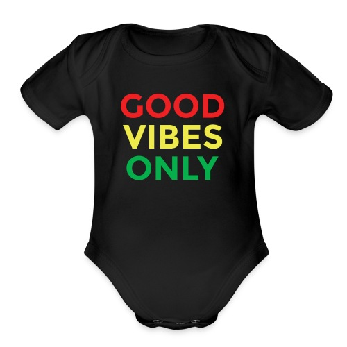 Good Vibes only (Blk) Baby Wear - Organic Short Sleeve Baby Bodysuit