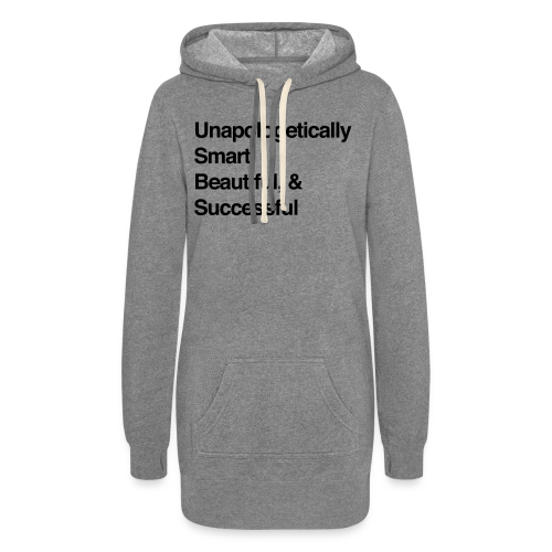 No Apologies Needed Hoodie Dress (Light Grey)  - Women's Hoodie Dress