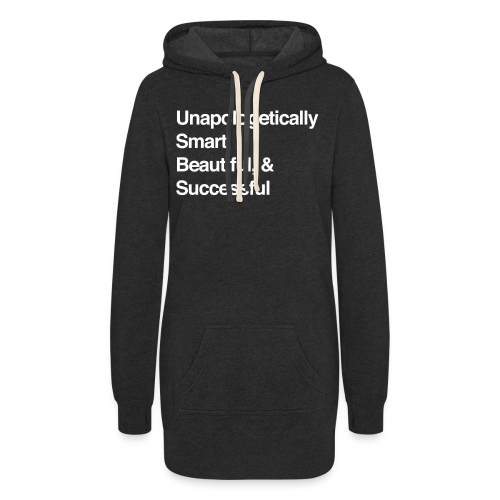 No Apologies Needed Hoodie Dress (Dark Grey) - Women's Hoodie Dress