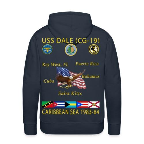 USS DALE CG-19 1983-84 CRUISE HOODIE - Men's Premium Hoodie