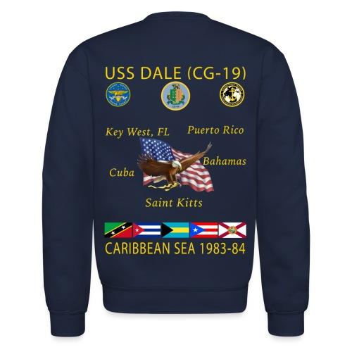 USS DALE CG-19 1983-84 CRUISE SWEATSHIRT - Crewneck Sweatshirt