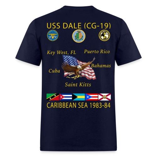 USS DALE CG-19 1983-84 CRUISE SHIRT - Men's T-Shirt