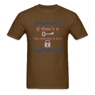 T-Shirts ~ Men's T-Shirt ~ Front&Back If There's A Key...