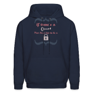 Hoodies ~ Men's Hoodie ~ Front&Back If There's A Key...