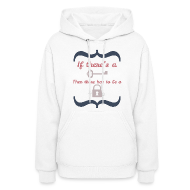 Hoodies ~ Women's Hoodie ~ Front&Back If There's A Key...