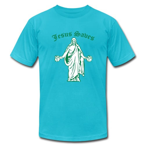 Jesus Saves - Men's Jersey T-Shirt