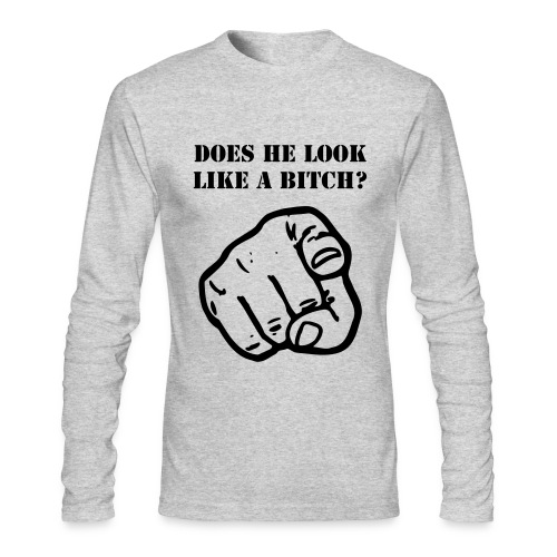 What does he look like?  - Men's Long Sleeve T-Shirt by Next Level