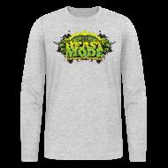 Long Sleeve Shirts ~ Men's Long Sleeve T-Shirt by Next Level ~ Beastmode Beast Green Sweater