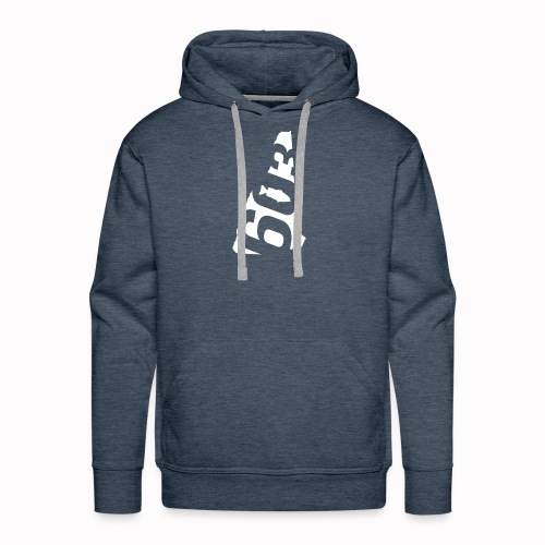 603bass Main Logo - White - Men's Premium Hoodie