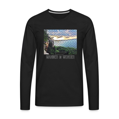 Men's Wander in Wonder Tennessee - Men's Premium Long Sleeve T-Shirt