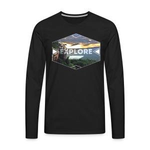 Men's Explore Long Sleeve - Men's Premium Long Sleeve T-Shirt