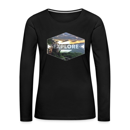 Women's Explore Long Sleeve - Women's Premium Long Sleeve T-Shirt