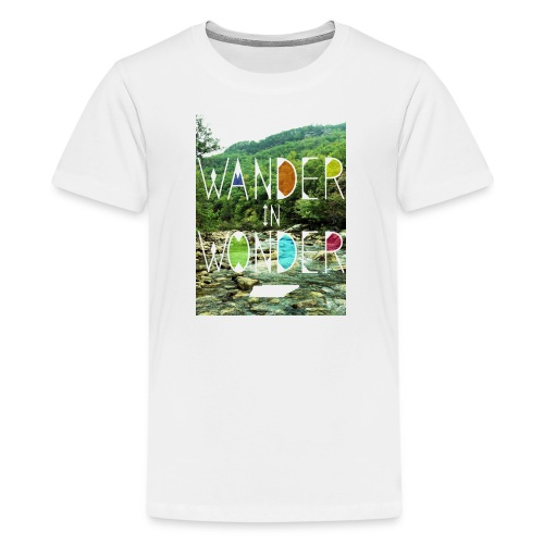 Youth Wander in Wonder creek - Kids' Premium T-Shirt