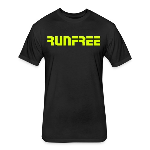 Runfree - Fitted Cotton/Poly T-Shirt by Next Level