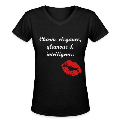 real woman - Women's V-Neck T-Shirt
