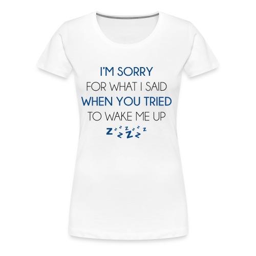 Bed shirt....(Women's Premium T-Shirt)  - Women's Premium T-Shirt