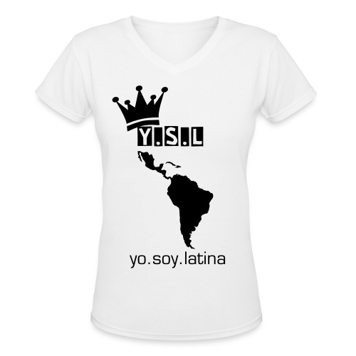 yo.soy.latina - women's addition - Women's V-Neck T-Shirt