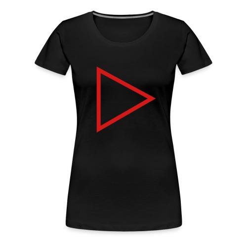 Womans Premium PlayButton T - Women's Premium T-Shirt