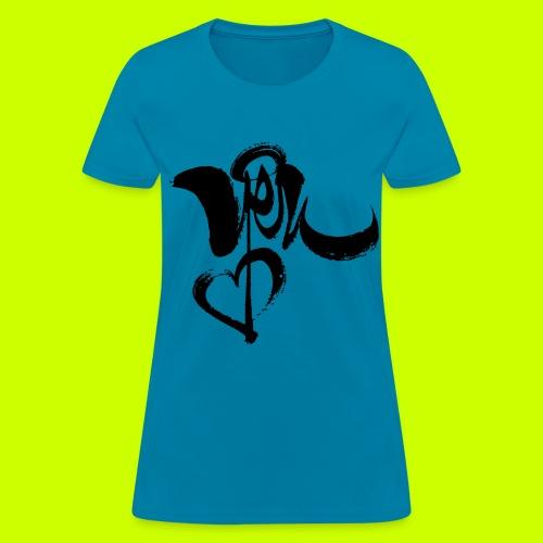 Yêu - Women's Tee (black print) - Women's T-Shirt
