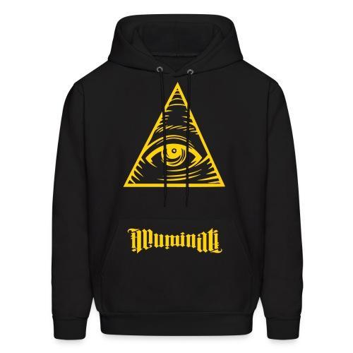all seeing eye illuminati  - Men's Hoodie