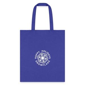* Happy Holidays, Snowflake * (velveteen.print)  - Tote Bag