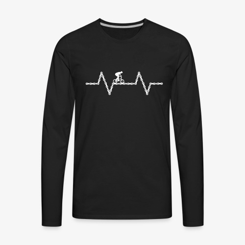 BMX Heartbeat - Men's Premium Long Sleeve T-Shirt
