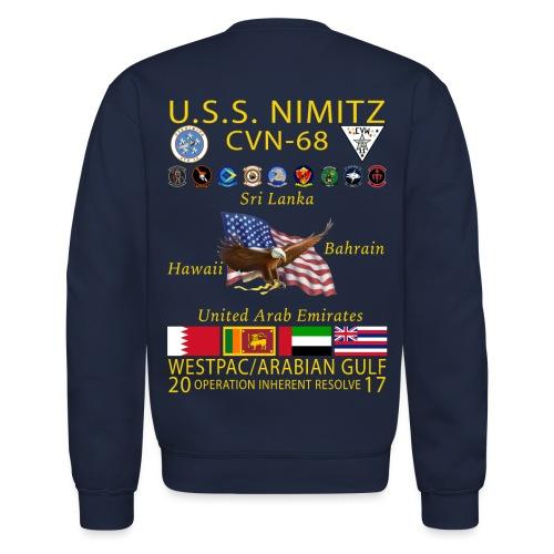 USS NIMITZ 2017 CRUISE SWEATSHIRT - Crewneck Sweatshirt