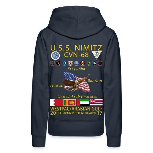 USS NIMITZ 2017 CRUISE HOODIE- WOMENS - Women's Premium Hoodie