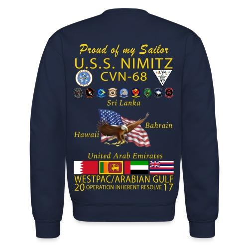USS NIMITZ 2017 FAMILY CRUISE SWEATSHIRT - Crewneck Sweatshirt