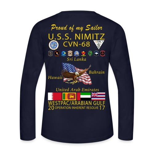USS NIMITZ 2017 FAMILY CRUISE SHIRT LONG SLEEVE - Women's Long Sleeve Jersey T-Shirt